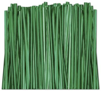 Green Metallic Twist Ties, 4