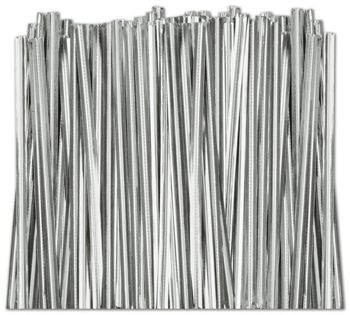 Silver Metallic Twist Ties, 4