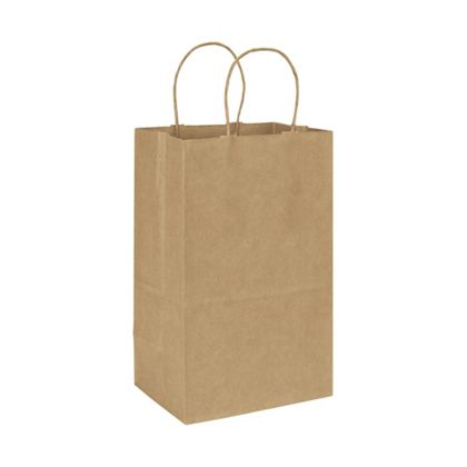 Kraft Paper Shoppers Debbie, 8 3/4 x 6 x 14