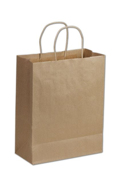 Kraft Paper Shoppers Lindsey, 10 x 5 x 13""