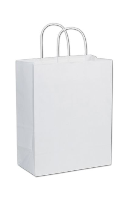 """White Paper Shoppers Lindsey, 10 x 5 x 13"""""""