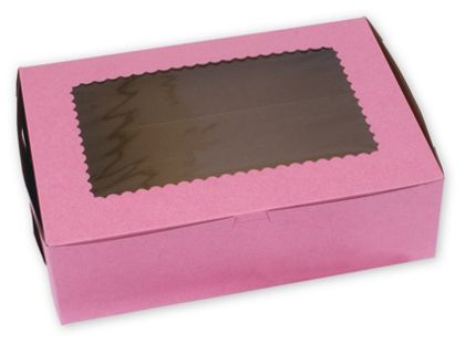 Strawberry Windowed Standard Cupcake Boxes, 12 Cupcakes