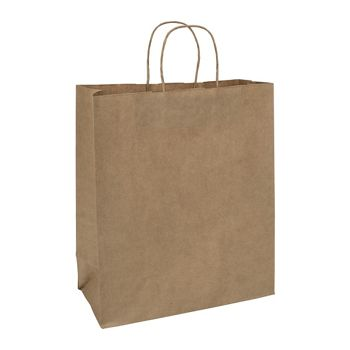 Kraft Paper Shoppers Escort, 13 x 7 x 15 1/2