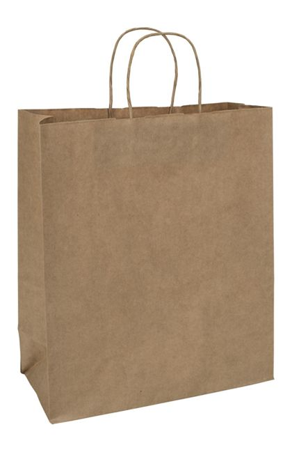 Kraft Paper Shoppers Escort, 13 x 7 x 15 1/2""