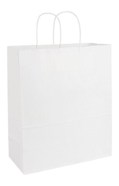 "White Paper Shoppers Escort, 13 x 6 x 15 1/2"""