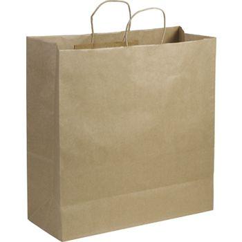 Kraft Paper Shoppers Jumbo, 18 x 7 x 19