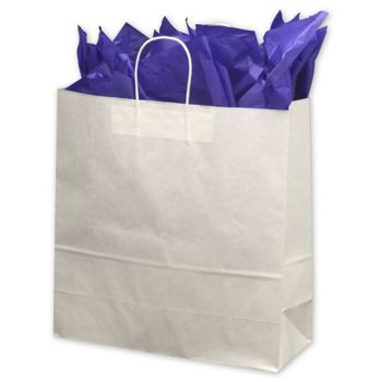 White Paper Shoppers Jumbo, 18 x 7 x 19