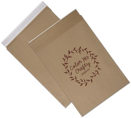 Natural Kraft Printed Eco-Mailers, 1 Color, 14 1/4 x 20""