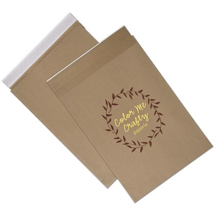Natural Kraft Printed Eco-Mailers, 2 Colors, 14 1/4 x 20""