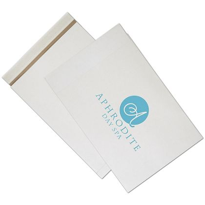 White Printed Eco-Mailers, 1 Color, 14 1/4 x 20""