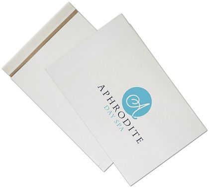 White Printed Eco-Mailers, 2 Colors, 14 1/4 x 20""