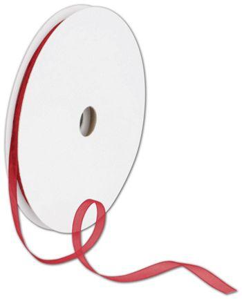 Sheer Organdy Red Ribbon, 1/4