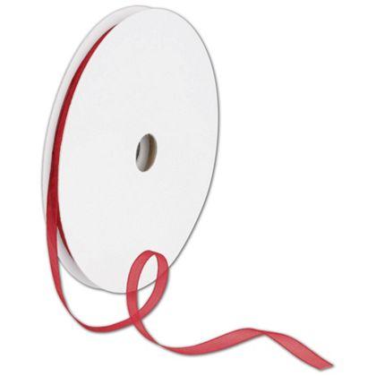 "Sheer Organdy Red Ribbon, 1/4"" x 100 Yds"