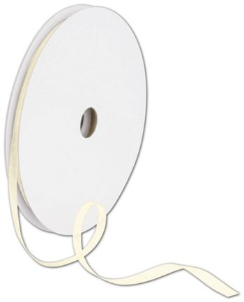 Sheer Organdy Cream Ribbon, 1/4