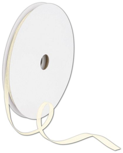 "Sheer Organdy Cream Ribbon, 1/4"" x 100 Yds"