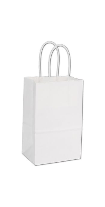 White Paper Shoppers Mini Cub, 5 1/4 x 3 1/2 x 8 1/4