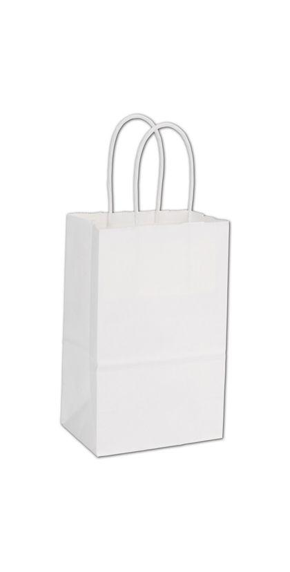"White Paper Shoppers Mini Cub, 5 1/4 x 3 1/2 x 8 1/4"""