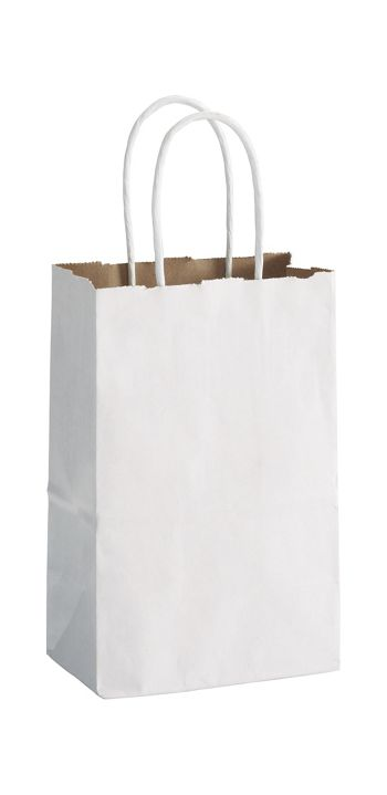 White Duet Shoppers Mini Cub, 5 1/4 x 3 1/2 x 8 1/4