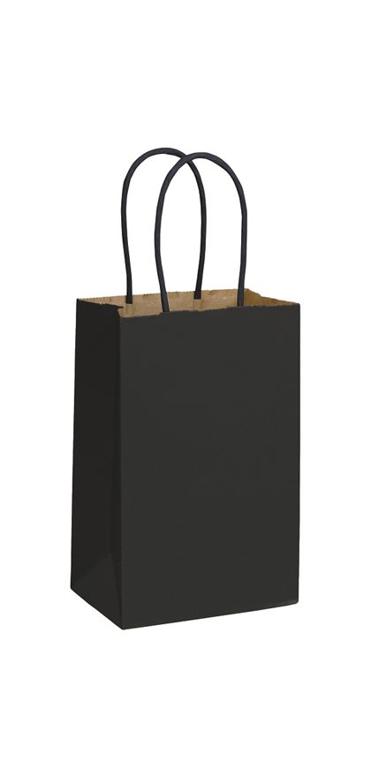 Black Color-on-Kraft Shoppers, 5 1/4 x 3 1/2 x 8 1/4""