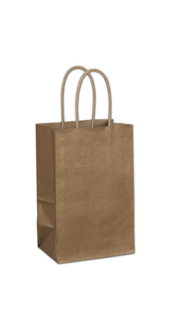 Copper Metallic-on-Kraft Shoppers, 5 1/4 x 3 1/2 x 8 1/4