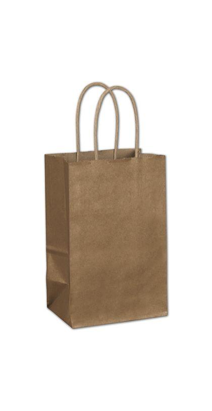 "Copper Metallic-on-Kraft Shoppers, 5 1/4 x 3 1/2 x 8 1/4"""