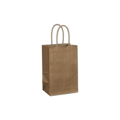 Copper Metallic-on-Kraft Shoppers, 5 1/4 x 3 1/2 x 8 1/4""