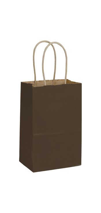 Chocolate Color-on-Kraft Shoppers