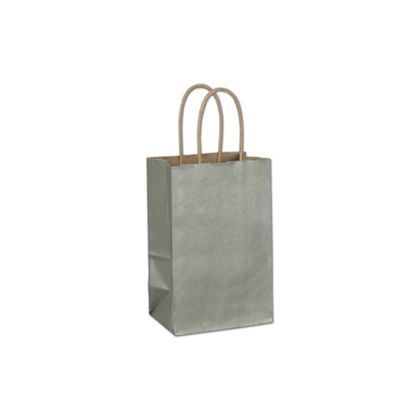 Sage Metallic-on-Kraft Shoppers, 5 1/4 x 3 1/2 x 8 1/4""