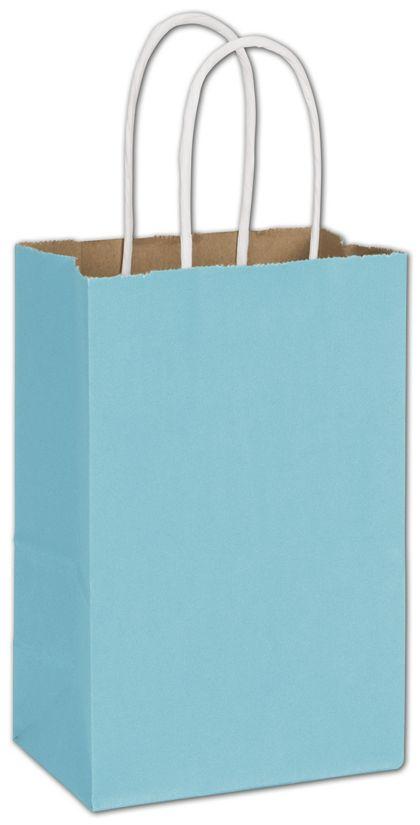 "Arctic Blue Radiant Shoppers, 5 1/4 x 3 1/2 x 8 1/4"""