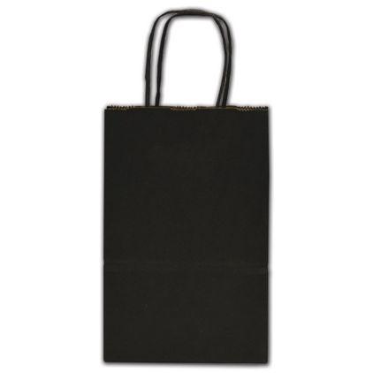 "Black Color-on-Kraft Shoppers, 5 1/4 x 3 1/2 x 8 1/4"""