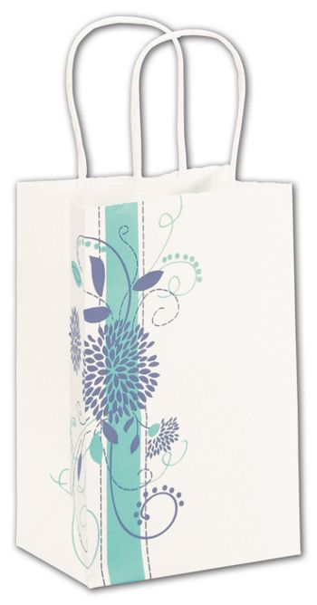 Spring Bouquet Shoppers, 5 1/4 x 3 1/2 x 8 1/4