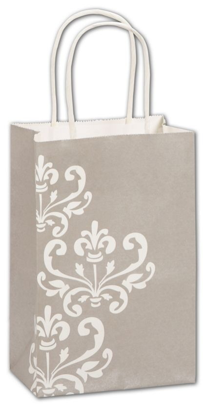 Champagne Chic Shoppers, 5 1/4 x 3 1/2 x 8 1/4""