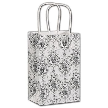 Damask Shoppers, 5 1/4 x 3 1/2 x 8 1/4