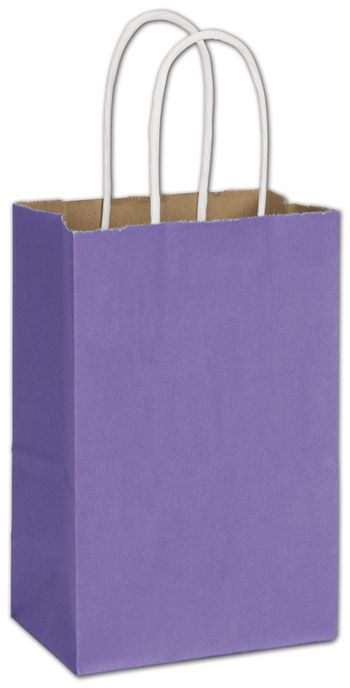 Electric Violet Radiant Shoppers, 5 1/4 x 3 1/2 x 8 1/4