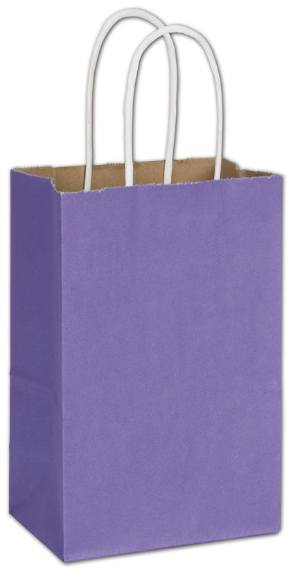 """Electric Violet Radiant Shoppers, 5 1/4 x 3 1/2 x 8 1/4"""""""