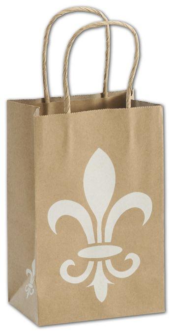 Fleur-De-Lis Shoppers, 5 1/4 x 3 1/2 x 8 1/4