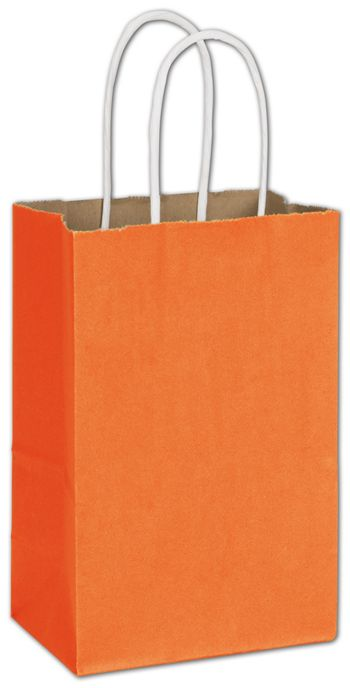 Pumpkin Radiant Shoppers, 5 1/4 x 3 1/2 x 8 1/4