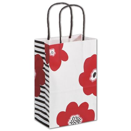 Poppy Shoppers, 5 1/4 x 3 1/2 x 8 1/4""