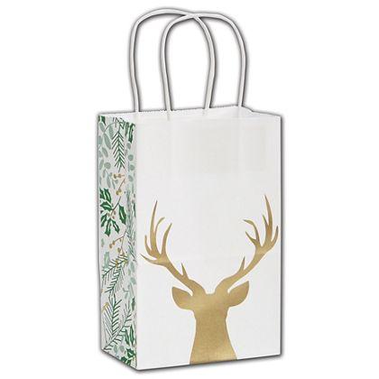 """Rustic Deer Shoppers, 5 1/4 x 3 1/2 x 8 1/4"""""""