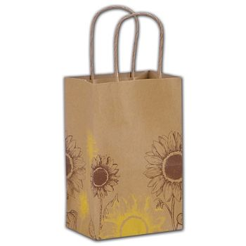 Sunflower Shoppers, 5 1/4 x 3 1/2 x 8 1/4""