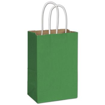Spruce Green Radiant Shoppers, 5 1/4 x 3 1/2 x 8 1/4