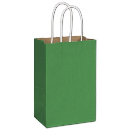 """Spruce Green Radiant Shoppers, 5 1/4 x 3 1/2 x 8 1/4"""""""