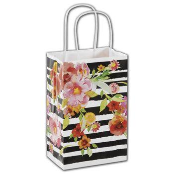 Vibrant Floral Shoppers, 5 1/4 x 3 1/2 x 8 1/4