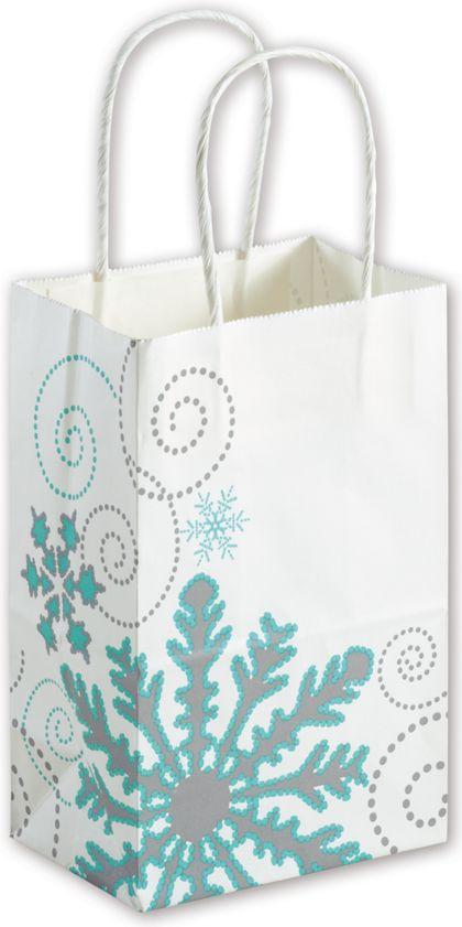 "Winter Wonderland Shoppers, 5 1/4 x 3 1/2 x 8 1/4"""