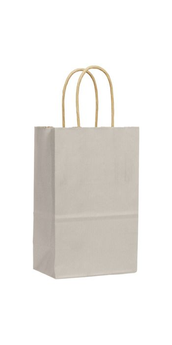 Ash Varnish Stripe Shoppers, 5 1/4 x 3 1/2 x 8 1/4