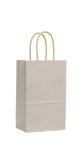 Ash Varnish Stripe Shoppers, 5 1/4 x 3 1/2 x 8 1/4