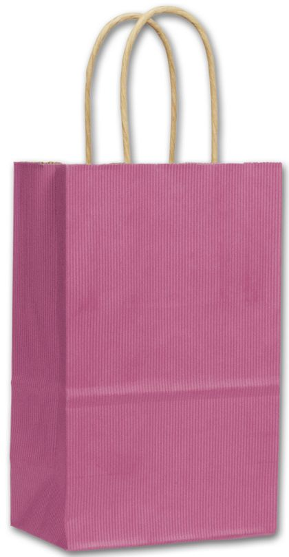Hot Pink Cotton Candy Shoppers, 5 1/4 x 3 1/2 x 8 1/4""