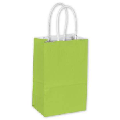Lime Cotton Candy Shoppers, 5 1/4 x 3 1/2 x 8 1/4""