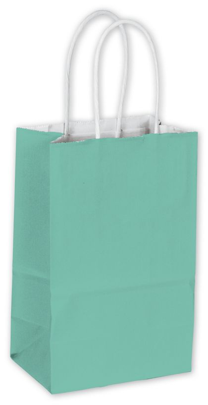 Aqua Cotton Candy Shoppers, 5 1/4 x 3 1/2 x 8 1/4""