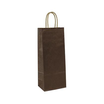 "Chocolate-on-Kraft Wine Bags, 5 1/4 x 3 1/4 x 13"""